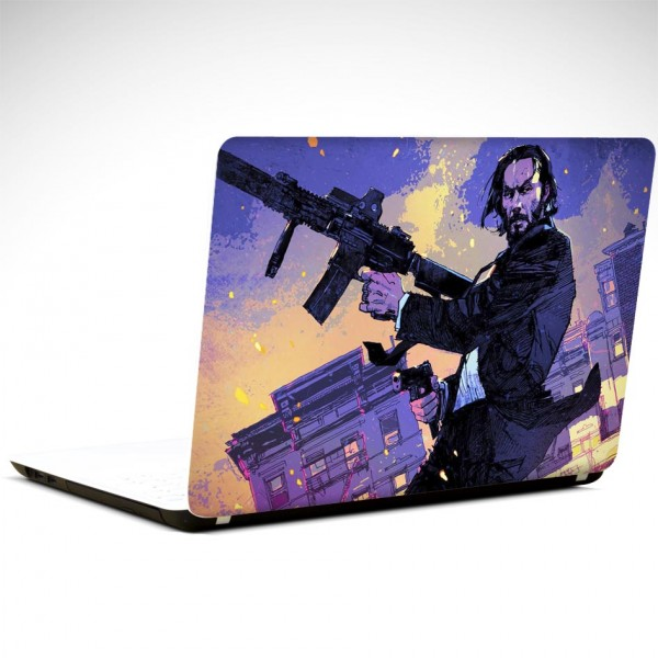 John Wick Tüfek Laptop Sticker