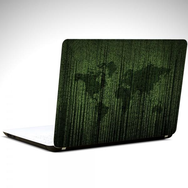 Matrix Dünya Haritası Laptop Sticker