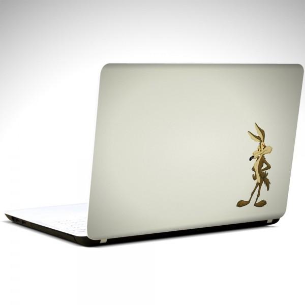 Wili E Coyote Minimal  Laptop Sticker