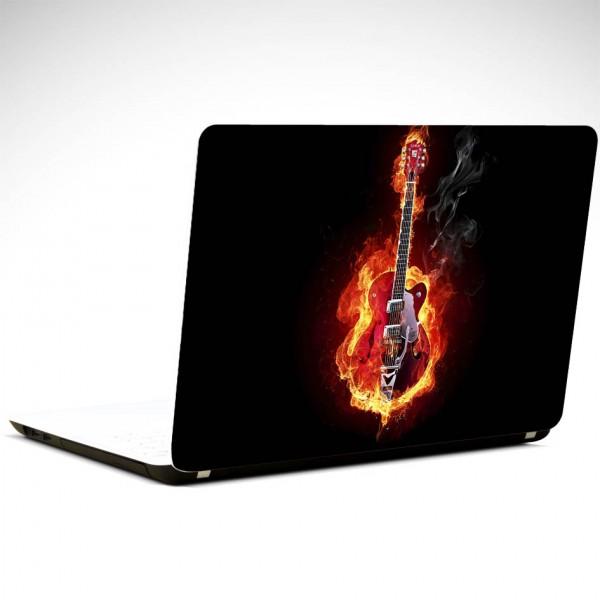 Gitar Ateş Laptop Sticker