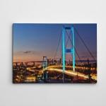 Köprü Işıklı Kanvas Tablo