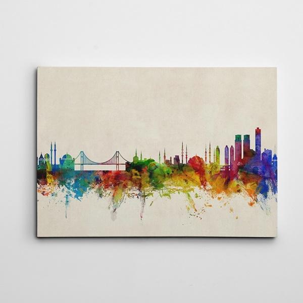 İstanbul Renkli Kanvas Tablo
