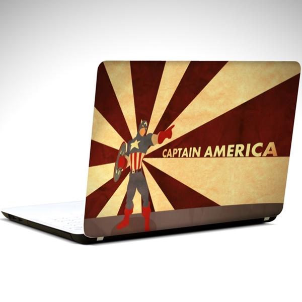 Captain America Laptop Sticker