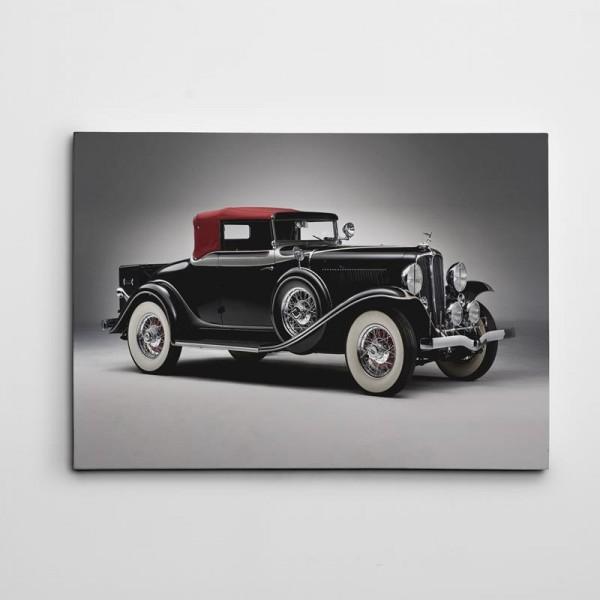 Eski Siyah Araba Kanvas Tablo