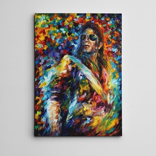 Michael Jackson Yağlıboya Reprodüksiyon Kanvas Tablo