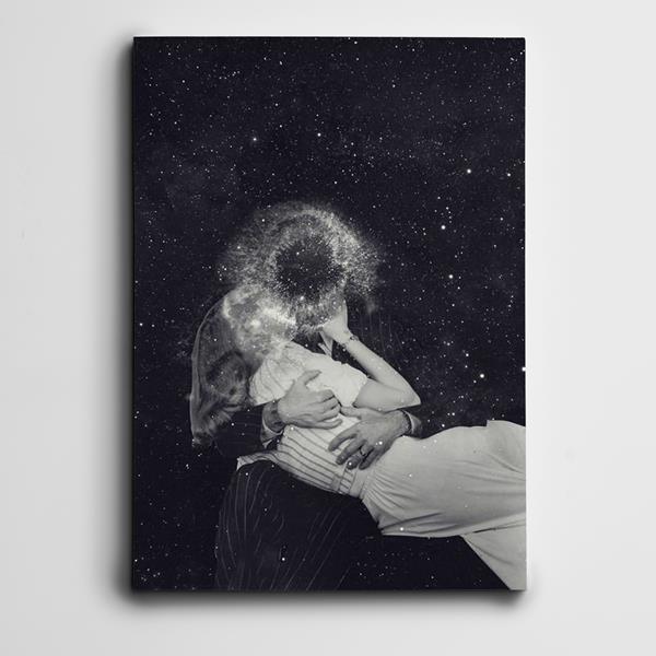 Evren ve Aşk Mini Kanvas Tablo