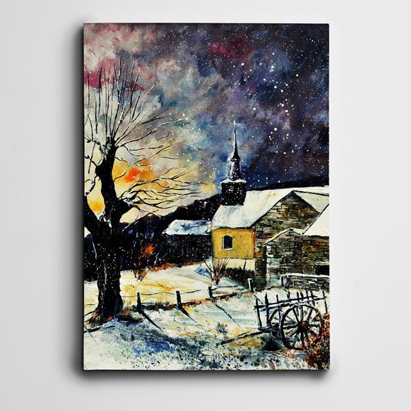 Kar ve Yıldızlar Mini Kanvas Tablo